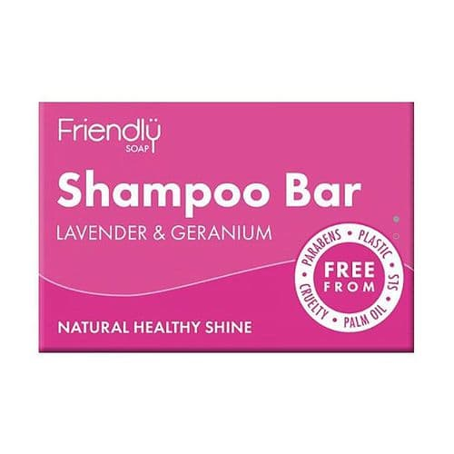 Friendly Soap Natural Shampoo Bar Lavender & Geranium